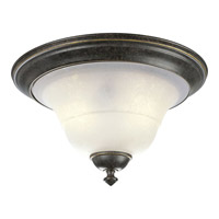 Melbourne 2 Light 14 inch Espresso Close-to-Ceiling Ceiling Light