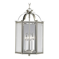 Progress P3645-09 Flat Glass 3 Light 9 inch Brushed Nickel Hall & Foyer Ceiling Light