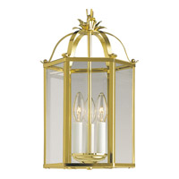 Progress Lighting Flat Glass 3 Light Hall & Foyer in Polished Brass P3645-10