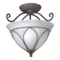 Progress Lighting Verona 2 Light Semi-Flush Mount in Cobblestone P3647-33