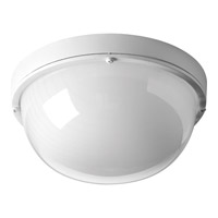 Progress Lighting Bulkheads 1 Light LED Outdoor Ceiling Wall in White with Frosted Glass P3648-3030K9