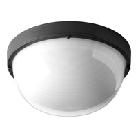 Progress Lighting Bulkheads 1 Light LED Outdoor Ceiling Wall in Black with Frosted Glass P3648-3130K9