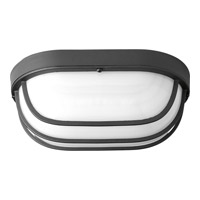 Progress Lighting Bulkheads 1 Light LED Outdoor Ceiling Wall in Black with Frosted Glass P3649-3130K9