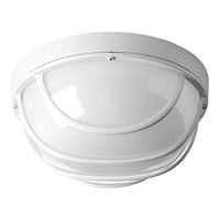 Progress Lighting Bulkheads 1 Light LED Outdoor Ceiling Wall in White with Frosted Glass P3650-3030K9