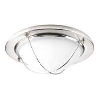 Progress Lighting Portal 1 Light LED Flush Mount in Brushed Nickel with Clear Etched Glass P3658-0930K9