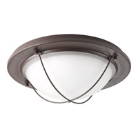 Portal LED 11 inch Antique Bronze Flush Mount Ceiling Light