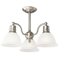 Madison 3 Light 21 inch Brushed Nickel Semi-Flush Mount Ceiling Light