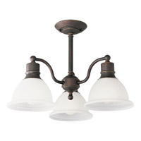 Madison 3 Light 21 inch Antique Bronze Semi-Flush Mount Ceiling Light