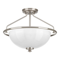 Lucky 3 Light 16 inch Brushed Nickel Semi-Flush Convertible Ceiling Light