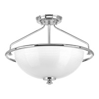 Progress P3664-15 Lucky 3 Light 16 inch Polished Chrome Semi-Flush Convertible Ceiling Light