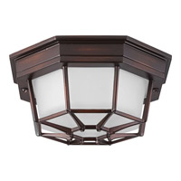 Progress Lighting Milford LED Outdoor Flush Mount in Antique Bronze with Frosted Seeded Glass P3665-2030K9
