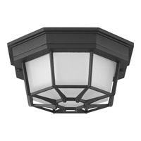 Progress Lighting Milford LED Outdoor Flush Mount in Black with Frosted Seeded Glass P3665-3130K9
