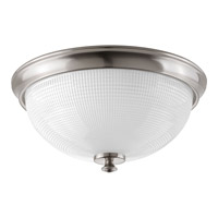 Lucky 3 Light 15 inch Brushed Nickel Flush Mount Ceiling Light