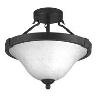 Enclave 3 Light 15 inch Gilded Iron Semi-Flush Convertible Ceiling Light