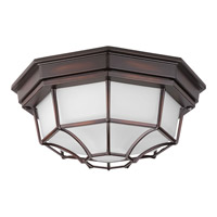 Progress Lighting Milford LED Outdoor Flush Mount in Antique Bronze with Frosted Glass P3673-2030K9
