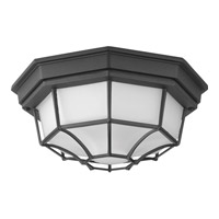 Progress Lighting Milford LED Outdoor Flush Mount in Black with Frosted Glass P3673-3130K9