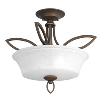 Progress P3674-102 Monogram 2 Light 17 inch Roasted Java Semi-Flush Convertible Ceiling Light