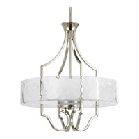 Caress 3 Light 22 inch Polished Nickel Hall & Foyer Ceiling Light