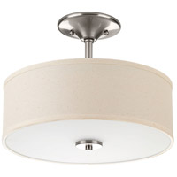 Inspire LED 13 inch Brushed Nickel Semi-Flush Mount Ceiling Light