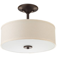 Inspire LED 13 inch Antique Bronze Semi-Flush Mount Ceiling Light