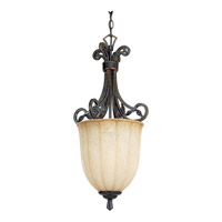 Le Jardin 1 Light 12 inch Espresso Hall & Foyer Ceiling Light