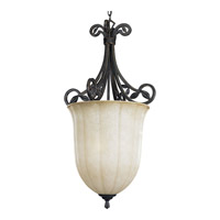 Progress P3686-84 Le Jardin 3 Light 19 inch Espresso Hall & Foyer Ceiling Light