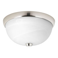 Progress P3687-09WB Random 1 Light 11 inch Brushed Nickel Close-to-Ceiling Ceiling Light