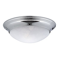 Progress Lighting Alabaster Glass 1 Light Close-to-Ceiling in Polished Chrome P3688-15