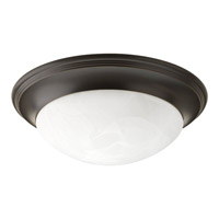 Progress P3688-20 Signature 1 Light 12 inch Antique Bronze Close-to-Ceiling Ceiling Light in Alabaster Glass