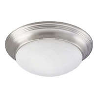 Progress Lighting Alabaster Glass 2 Light Close-to-Ceiling in Brushed Nickel P3689-09