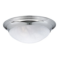 Progress P3689-15 Alabaster Glass 2 Light 14 inch Chrome Close-to-Ceiling Ceiling Light in Etched Alabaster photo thumbnail