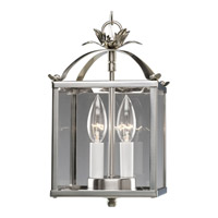 Flat Glass 2 Light 7 inch Brushed Nickel Hall & Foyer Ceiling Light