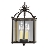 Progress Lighting Flat Glass 2 Light Hall & Foyer in Antique Bronze P3690-20