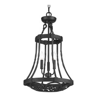 Progress Lighting Enclave 3 Light Foyer Pendant in Gilded Iron with Frosted and Inside Pearl Painted Glass P3691-71