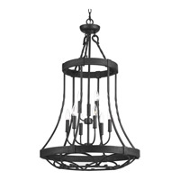 Progress Lighting Enclave 9 Light Foyer Pendant in Gilded Iron with Frosted and Inside Pearl Painted Glass P3692-71