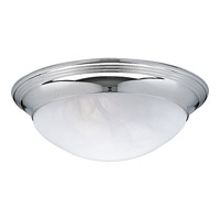 Progress Lighting Alabaster Glass 3 Light Close-to-Ceiling in Polished Chrome P3697-15