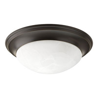 Signature 3 Light 17 inch Antique Bronze Close-to-Ceiling Ceiling Light in Alabaster Glass