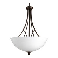Prosper 3 Light 17 inch Antique Bronze Inverted Pendant Ceiling Light