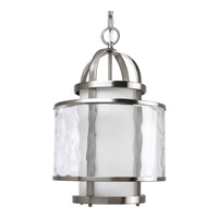 Progress P3701-09 Bay Court 1 Light 12 inch Brushed Nickel Hall & Foyer Ceiling Light