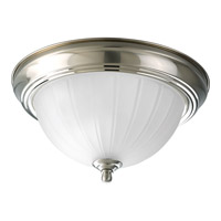 Melon Glass 1 Light 11 inch Brushed Nickel Flush Mount Ceiling Light