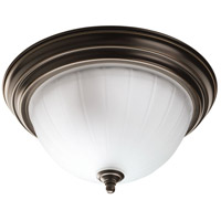 Melon 2 Light 13 inch Antique Bronze Flush Mount Ceiling Light
