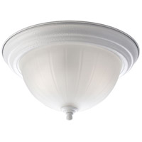 Melon 2 Light 13 inch White Flush Mount Ceiling Light