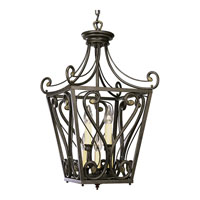 Progress Lighting Bradford 8 Light Hall & Foyer in Forged Bronze P3703-77