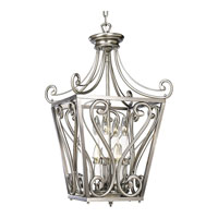 Progress Lighting Bradford 8 Light Hall & Foyer in Antique Nickel P3703-81