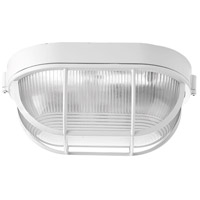 Progress P3706-30 Bulkheads 1 Light 6 inch White Outdoor Ceiling Wall