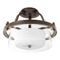 Progress Indulge 2 Light Semi-Flush in Antique Bronze P3707-20