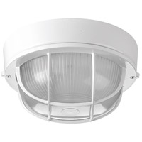Progress P3709-30 Bulkheads 1 Light 8 inch White Outdoor Ceiling Wall