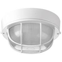 Progress P3709-30 Bulkheads 1 Light 8 inch White Outdoor Ceiling Wall
