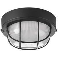 Bulkheads 1 Light 8 inch Black Outdoor Ceiling Wall