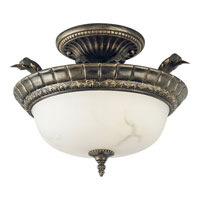 Progress Lighting Palmero 2 Light Semi-Flush Mount in Weathered Bronze P3709-46